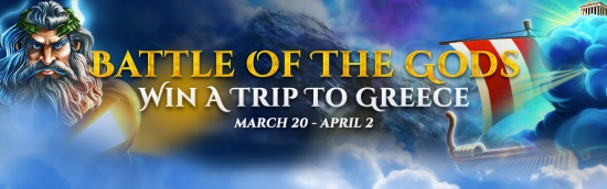 Battle of the Gods - WIN A TRIP TO GREECE