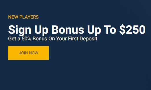 Online betting sign up bonus betting line nfl championship games